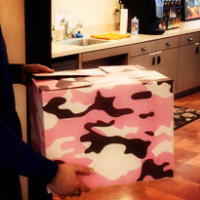 Pink Camo Moving Box