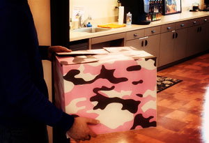 Pink Camo Moving Box