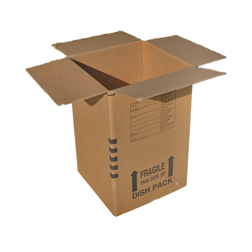 Dish Box Bundle With Cell Inserts Corrugated Moving Box