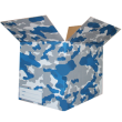 The Camo Moving Box - Blue/Small