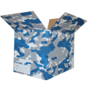 The Camo Moving Box - Blue/Large