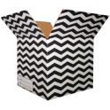 The Chevron Moving Box - Black/Small