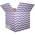 The Chevron Moving Box - Purple/Small