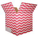 The Chevron Moving Box - Red/Small