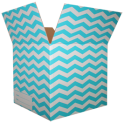 The Chevron Moving Box - Turquoise/Small