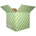 The Striped Moving Box - Green/Small
