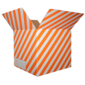 The Striped Moving Box - Orange/Medium