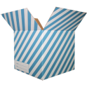The Striped Moving Box - Blue/Small