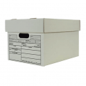File Storage Box with Lid Bundle - White/ 5 Pack